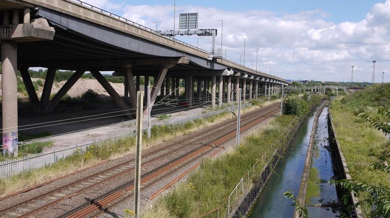 View from SSR bridge towards Bescot