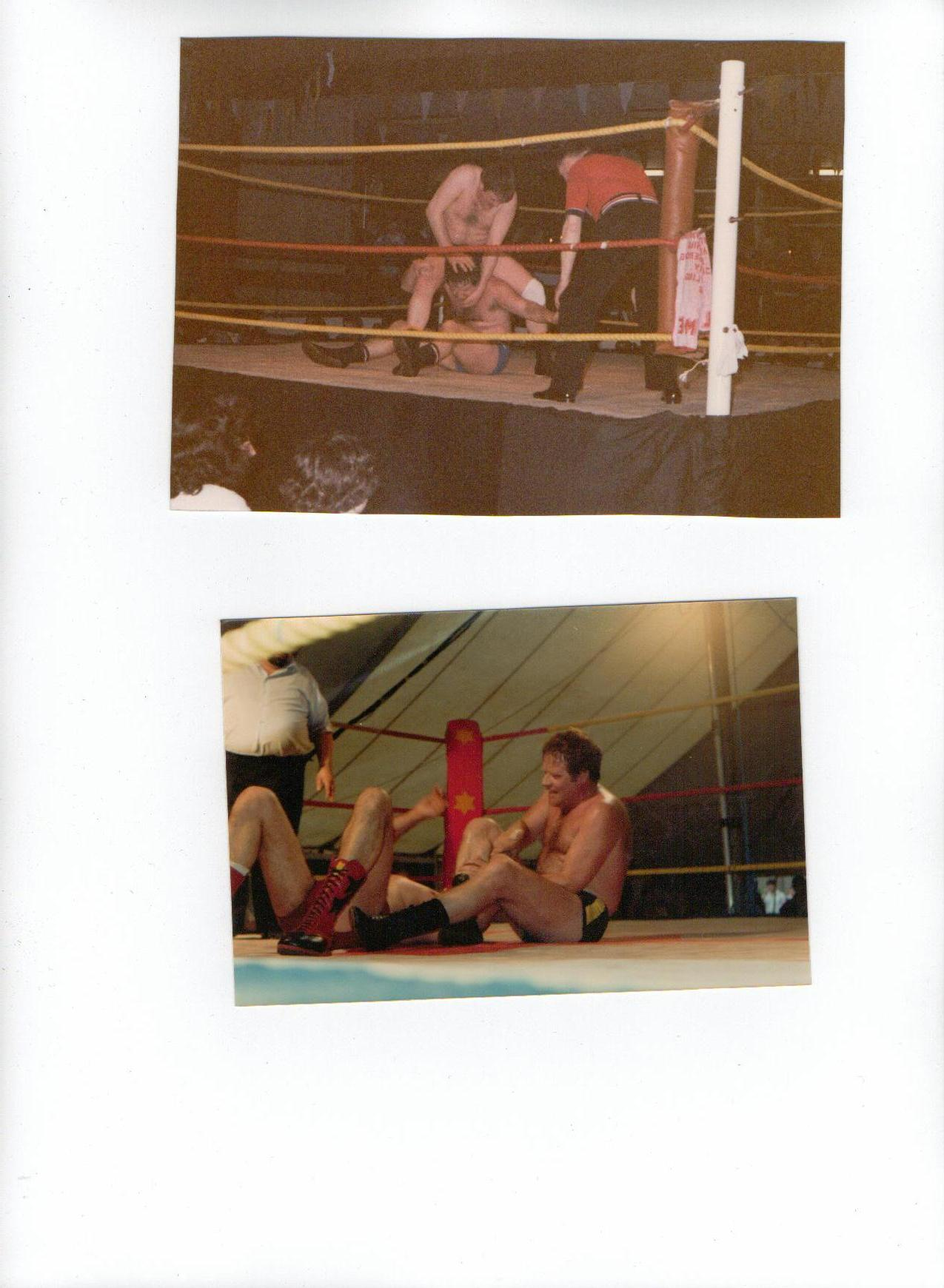 Two wrestling shots