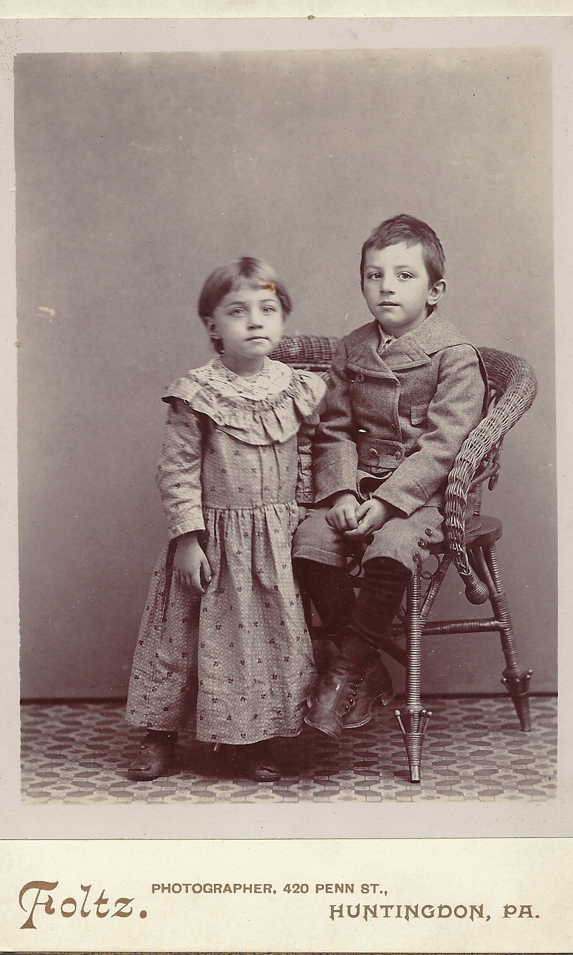 Anna Mary Blatt and her brother, William J Blatt