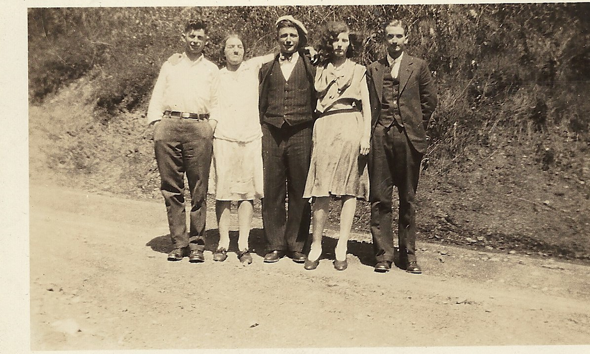 Anna Mary (Blatt) Cunningham with unknown friends