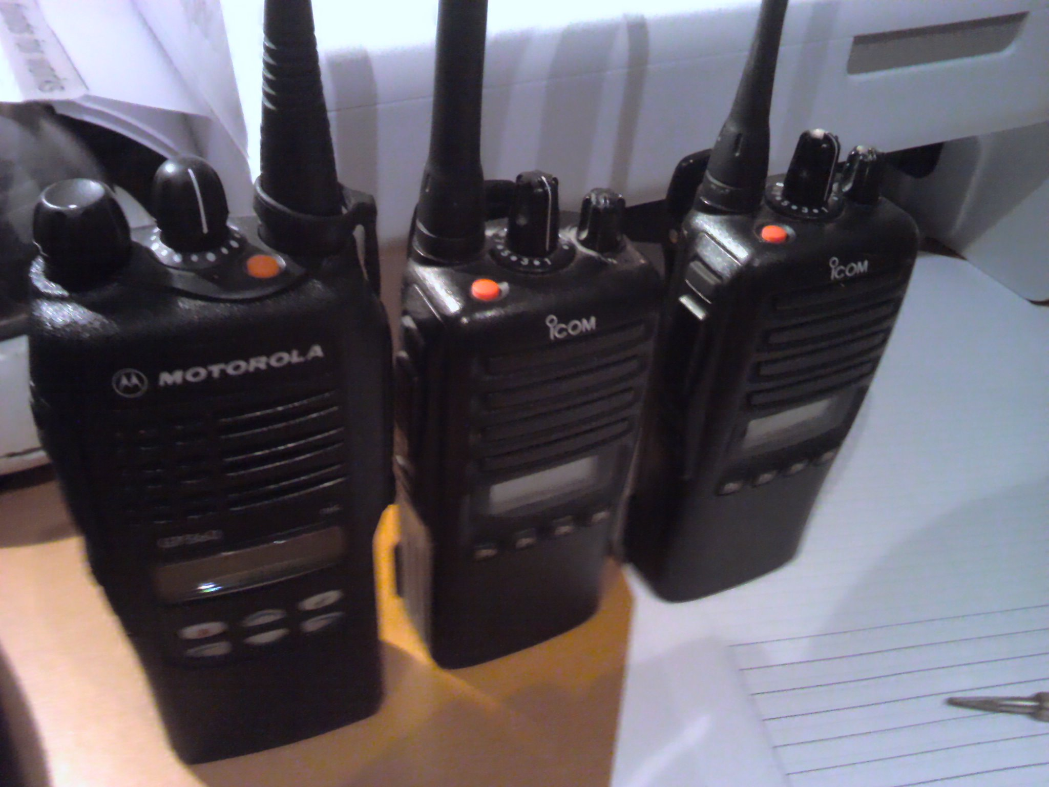 Motorola Gp360, Icom F34GS and F44GS