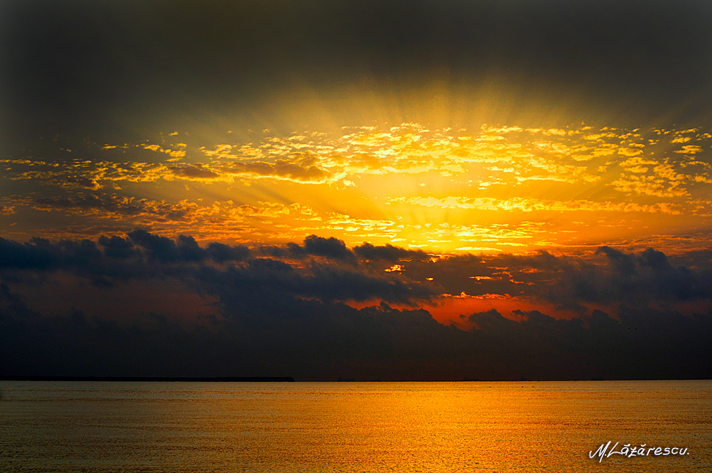 Hot sunrise