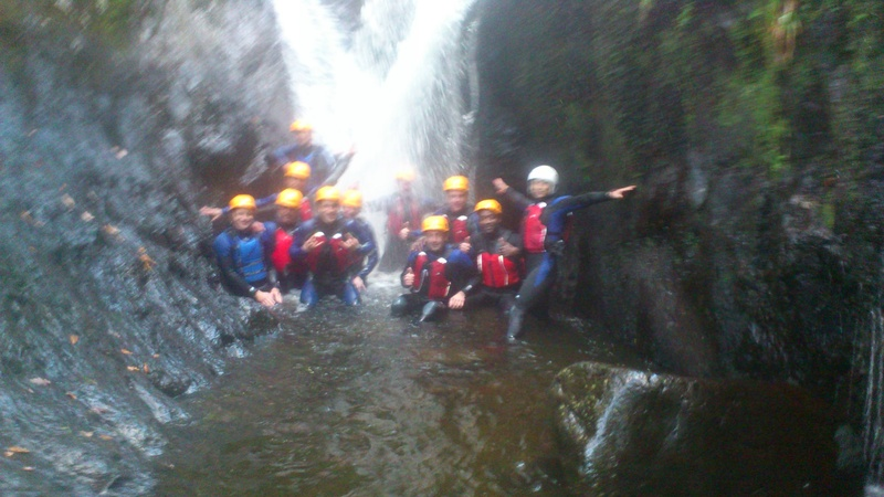Royal Enginners Gorge Walking in North Wales