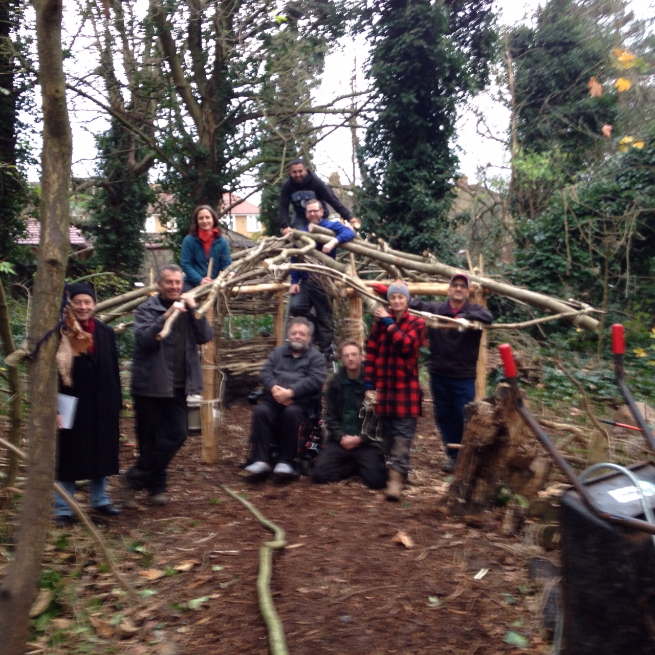 The art group and roundhouse construction team.