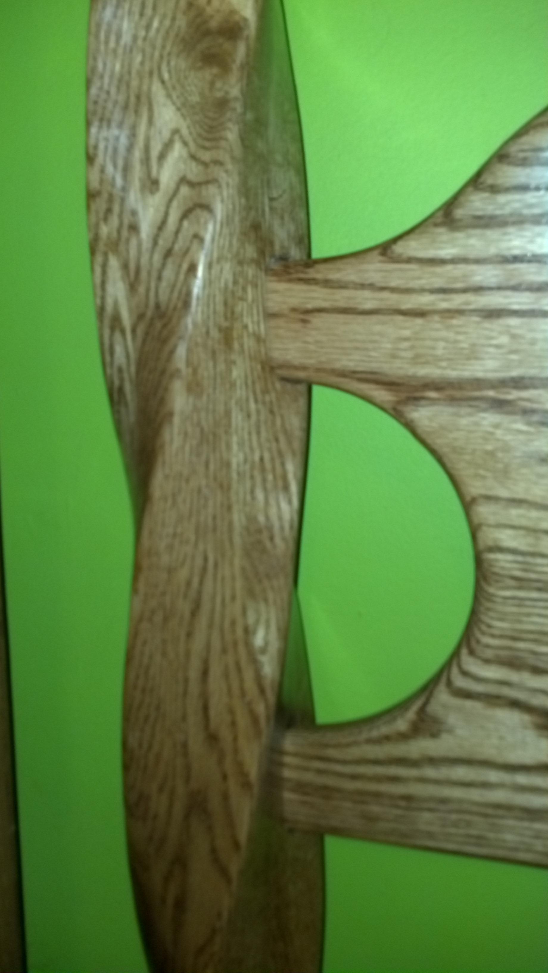 "Oak Bed With A ""TWIST"""