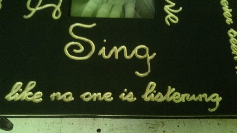 """Dance, Sing, Live, Love"" Sign"