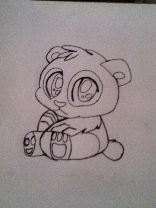 Shitty Panda Lineart