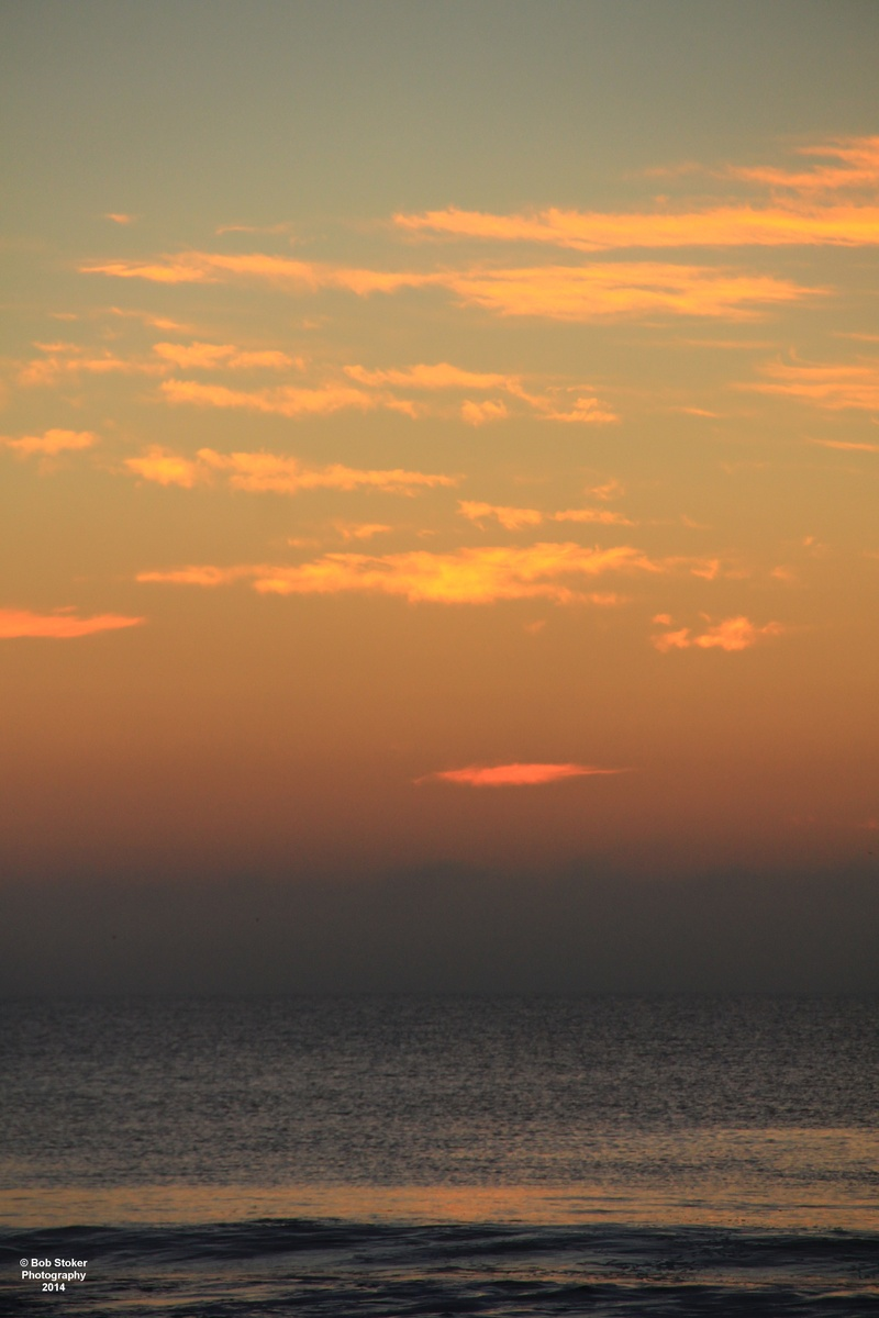 Sunrise before the fog