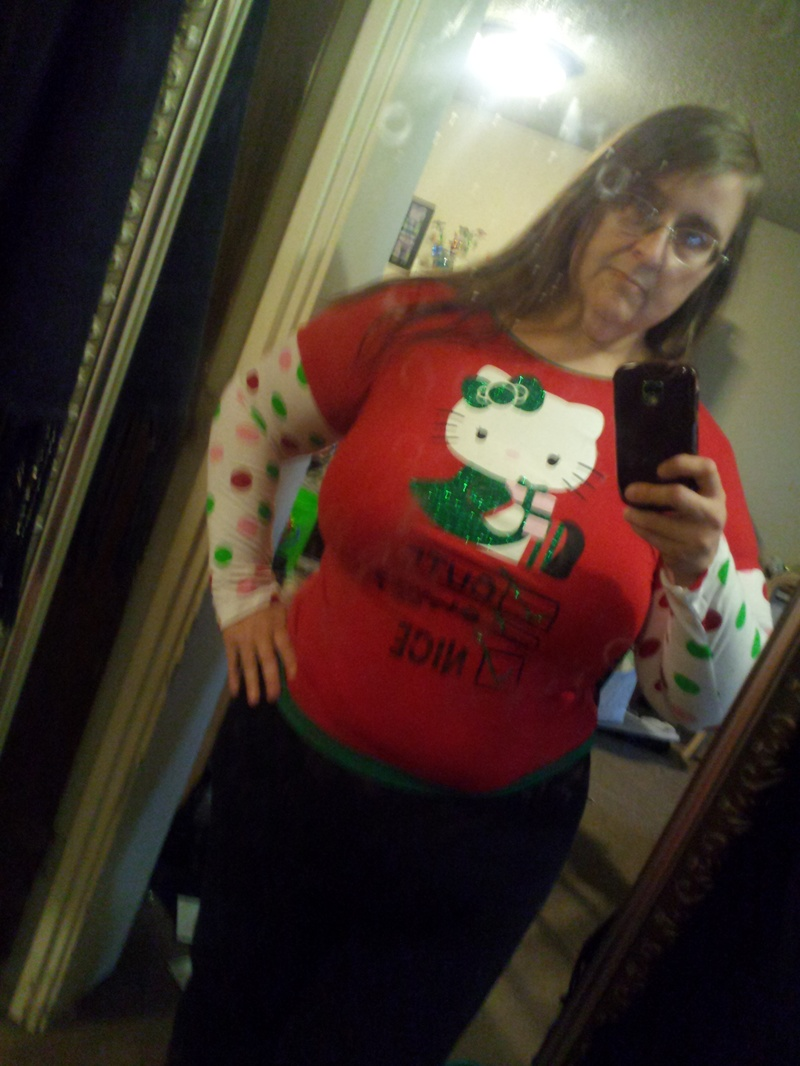 Shhh...I had to try it on...it's Hello Kitty!
