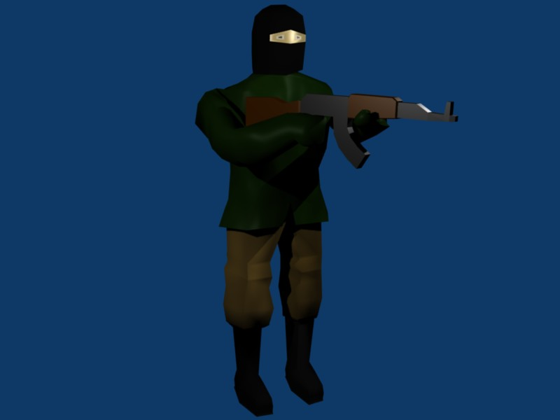 Guy with AK 47-smooth
