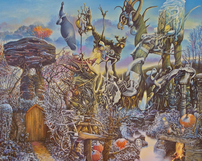 """Riverbed Sanctum in November Frost"""