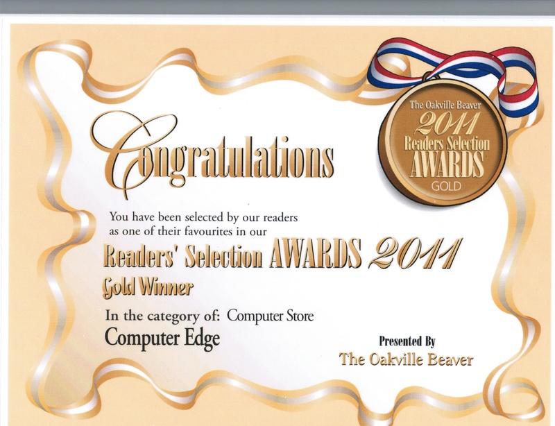 Oakville Beaver 2011 Award