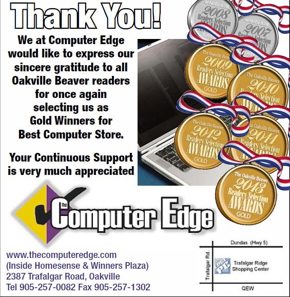 Oakville Beaver 2013 Ad Award