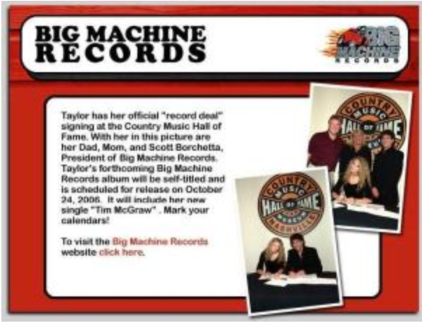 Signing her record deal