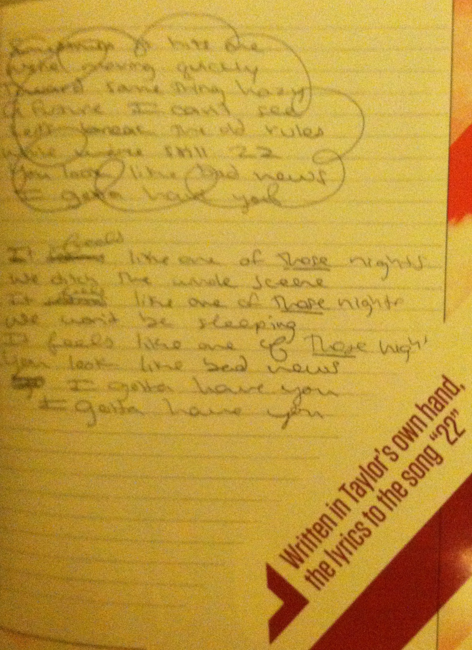 Images of Handwritten Songs By Taylor Swift - #rock-cafe