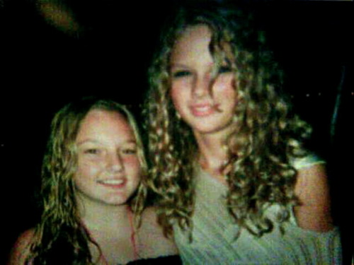 Taylor at 14 with another girl