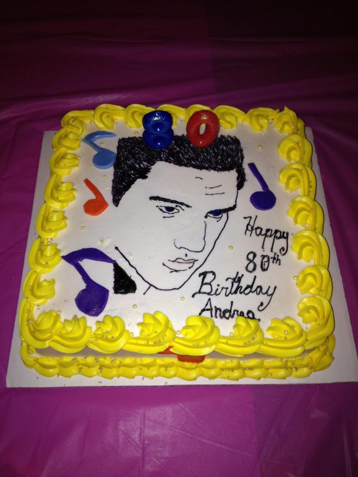 Awesome Elvis Presley Birthday Cake Birthday Cards Printable Inklcafe Filternl