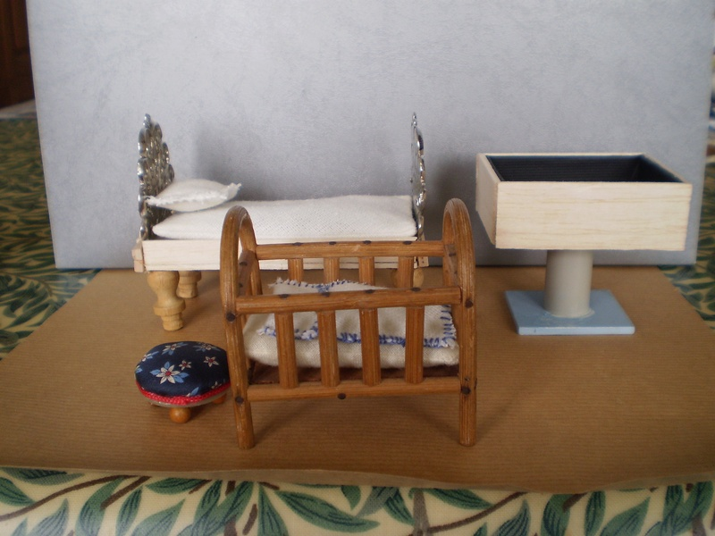 Bed at the back made from a buckle and Balsa