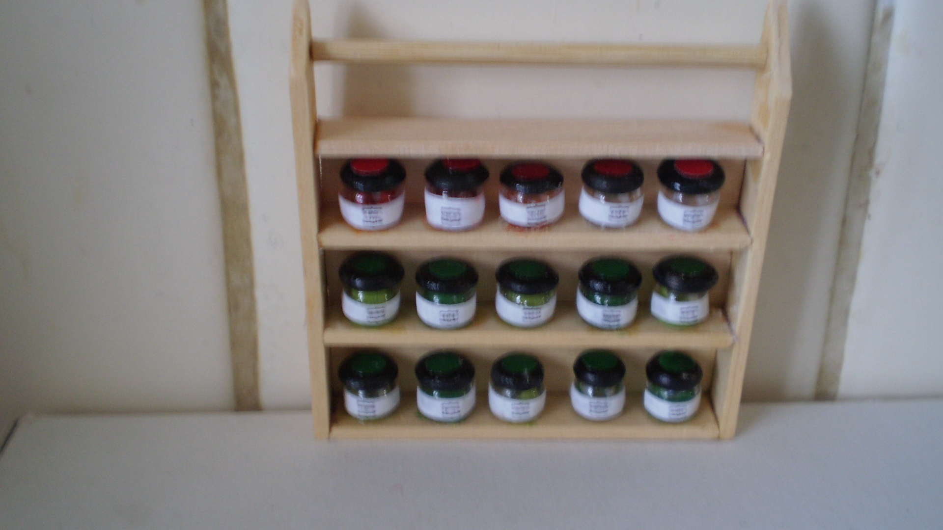 1/12th scale spice rack