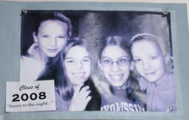 Taylor with friends from middle school