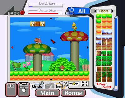 Super Mario Bros Level Editor