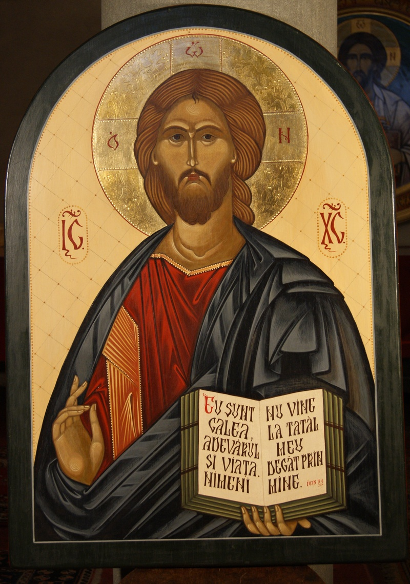 Hristos icoana iconostas in sfantul altar
