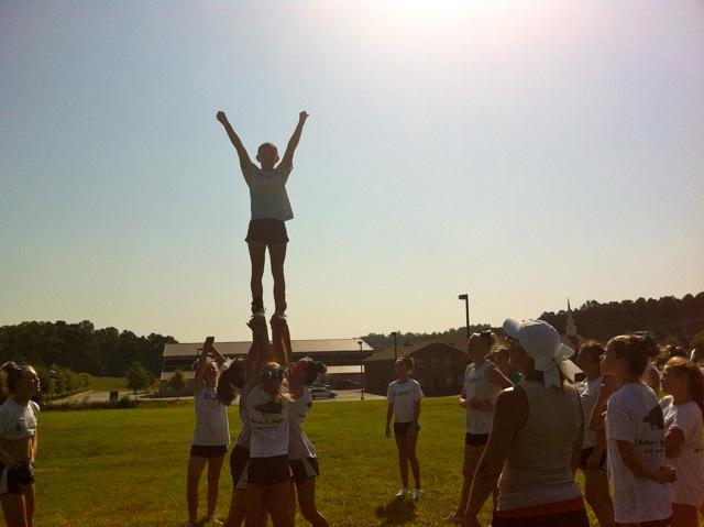 8th Grade Cheerleaders Oops