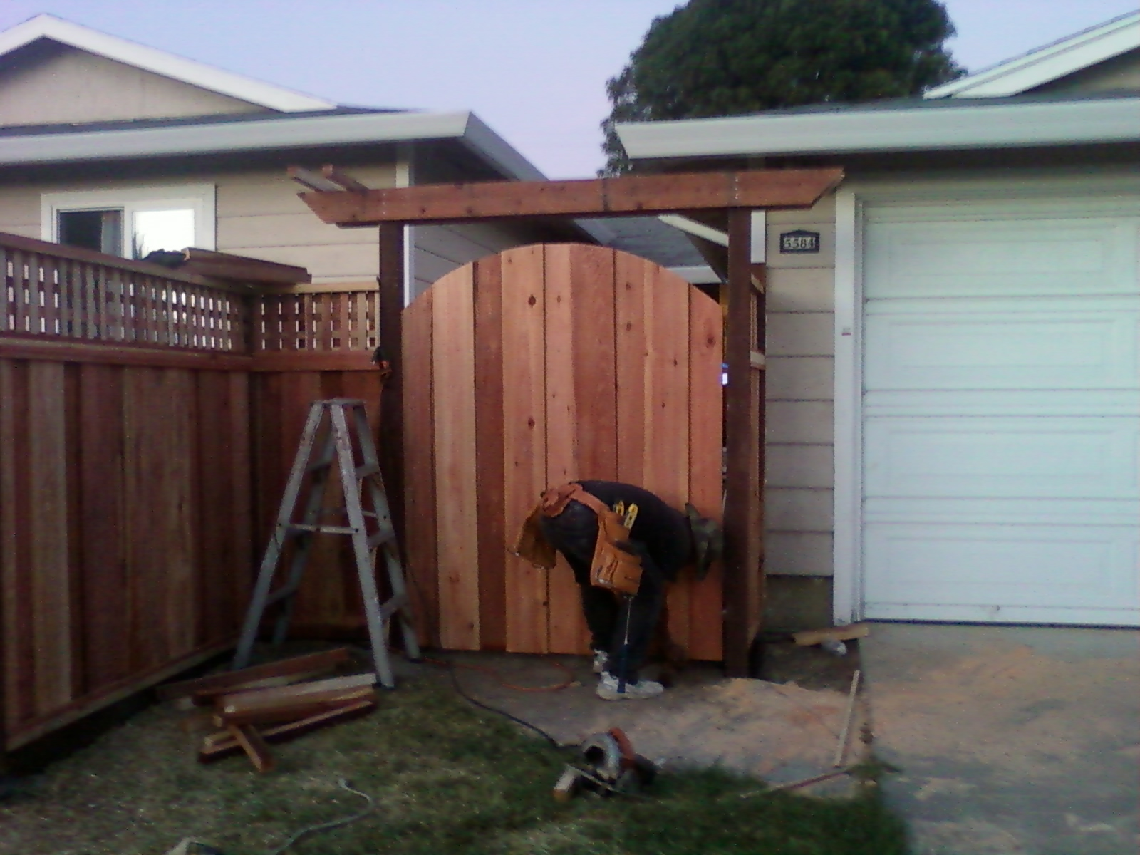 arbors + one single gate