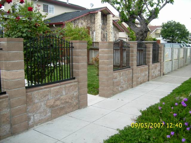 great iron picket fence