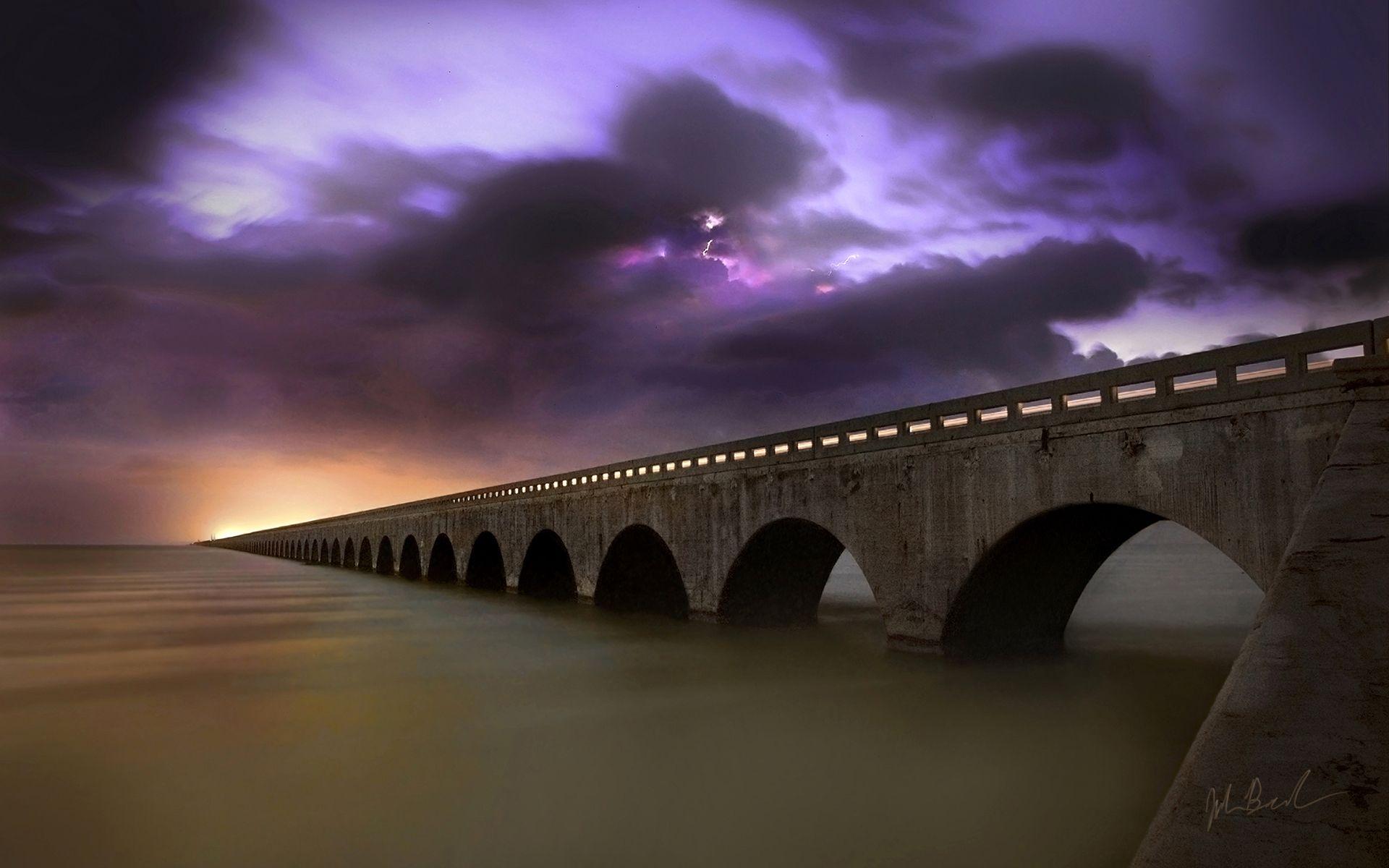 جسر على البحيرة | خلفيات طبيعة | HD Nature wallpaper Lake