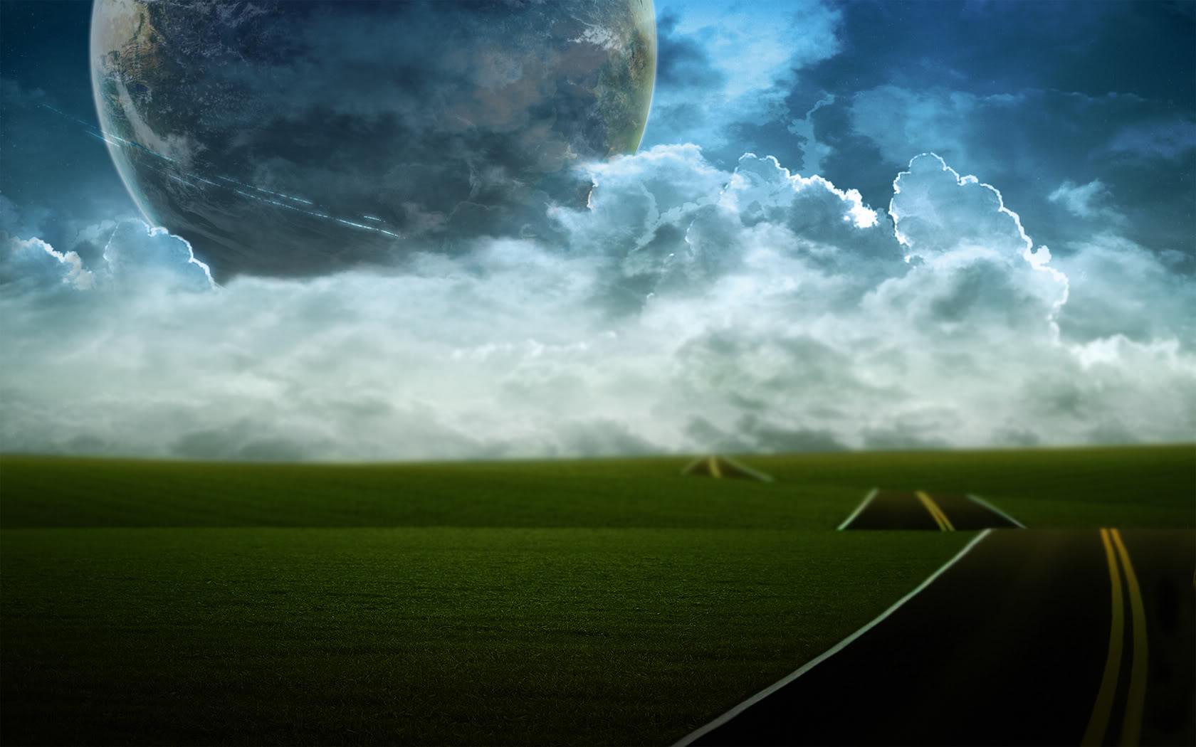 صورة طبيعية للسحاب و القمر البدر تووووووووووحفة