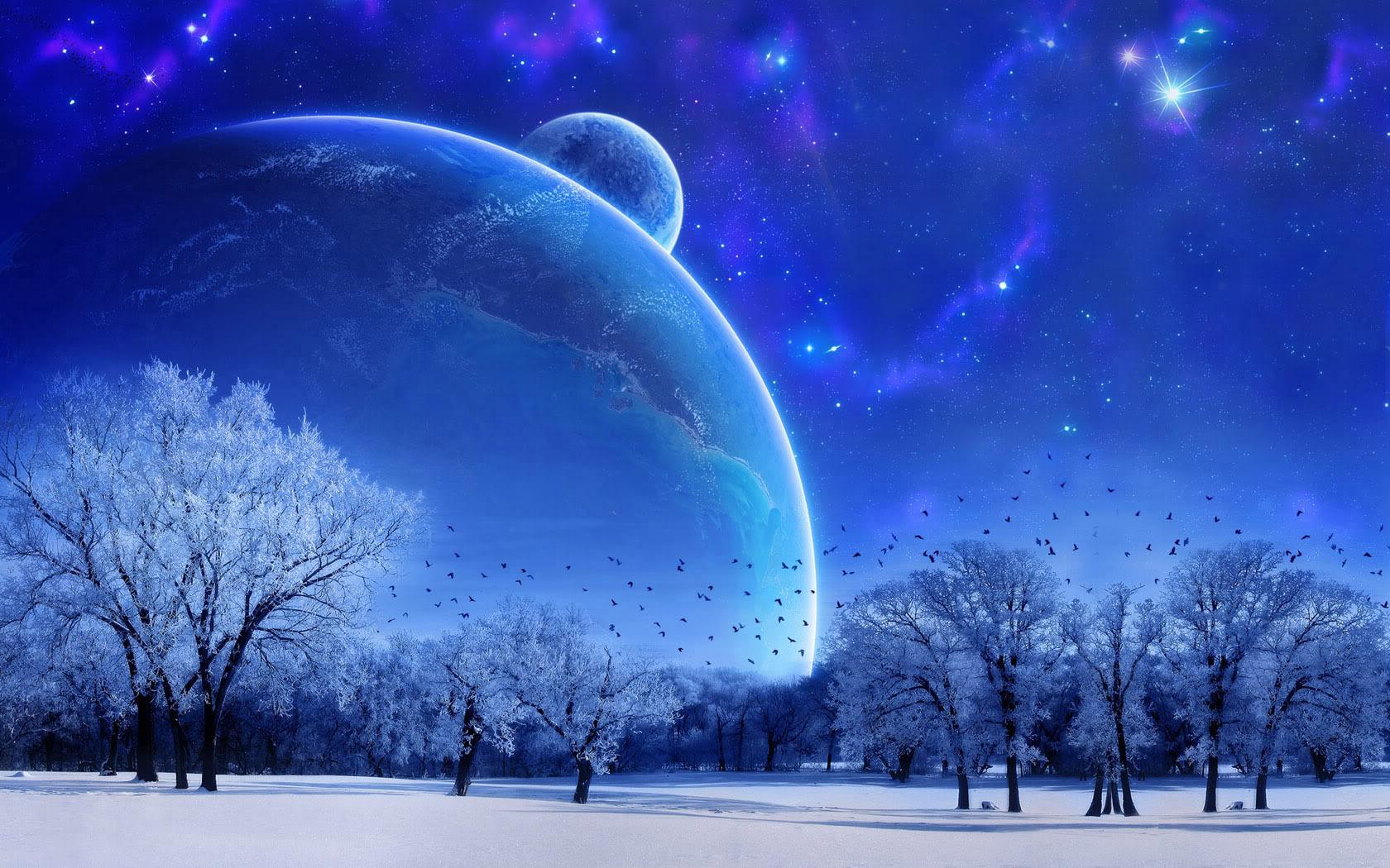 صورة طبيعية للكواكب من سطح الارض