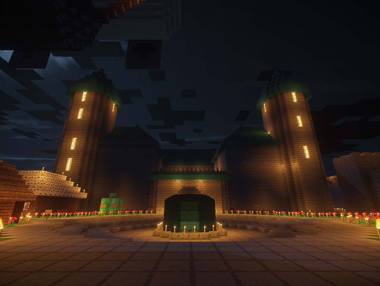 Old spawn at night