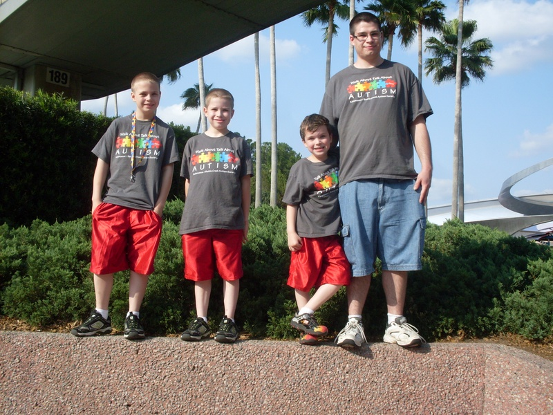 Spreading the autism awareness message at Disney!