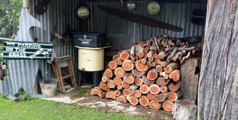Plenty of firewood for cosy evenings around the fire.