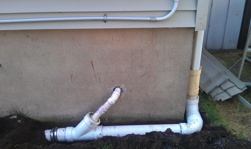 Outside sump pump ejector