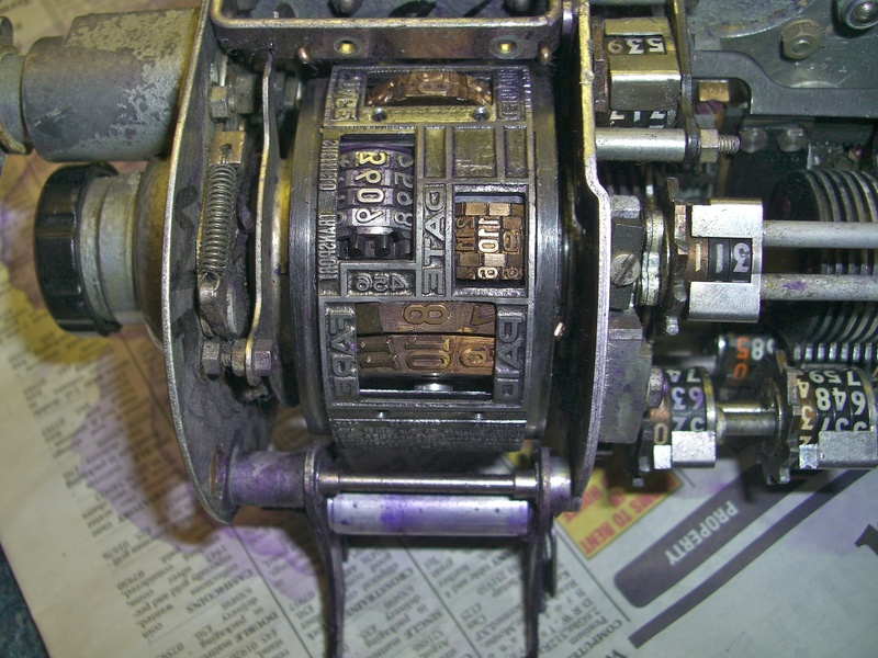 Inside of Plessey Ticket Machine