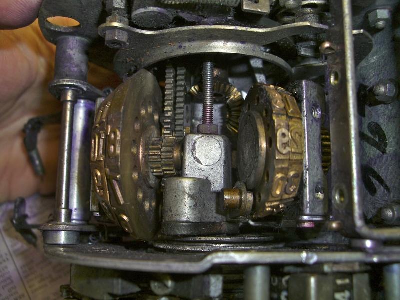 Inside of Plessey Ticket Machine