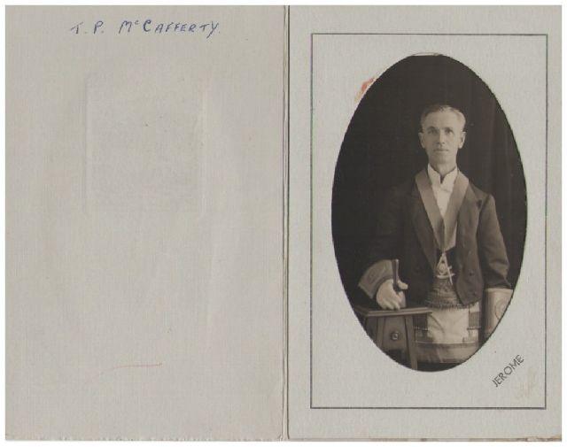 The Masters Xmas card 1933