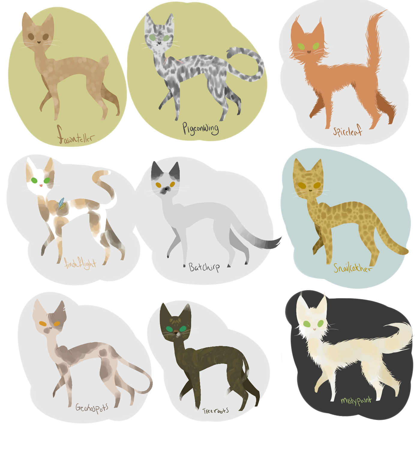 oh yknow just cats all drawn in the same pose