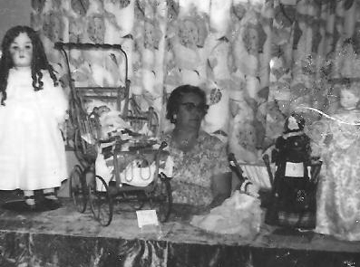 My Grandmother displaying her work 1958