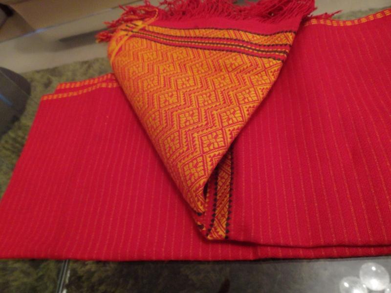 "A handmade Tanchangya traditional ""hadhi"" (scarf)"