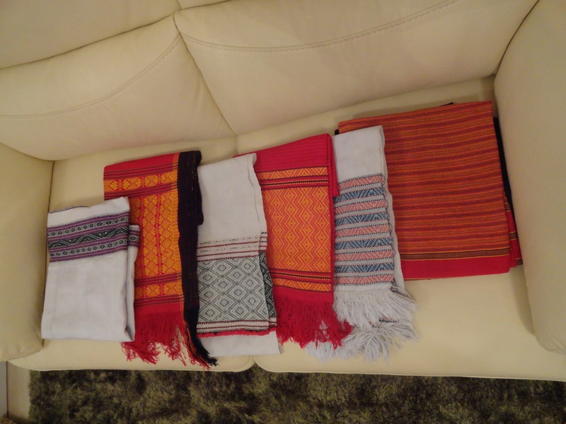 A Set of Tanchangya Traditional Dress worn by women