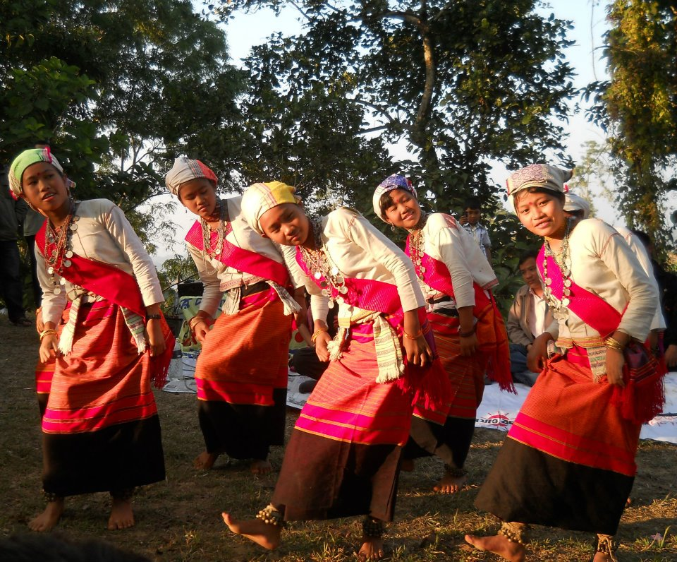 A Group of Tanchangya Girls in a Traditional Dance
