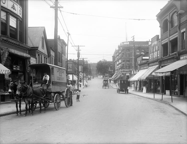Homewood Ave Commercial district 1914
