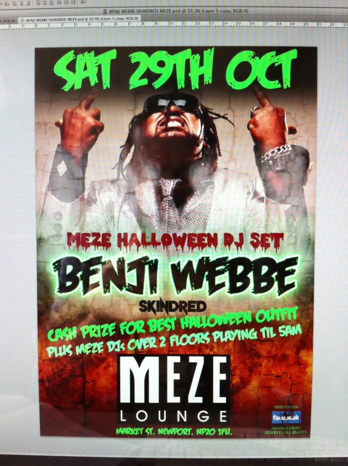 Benji Webbe DJ Set Halloween 2011
