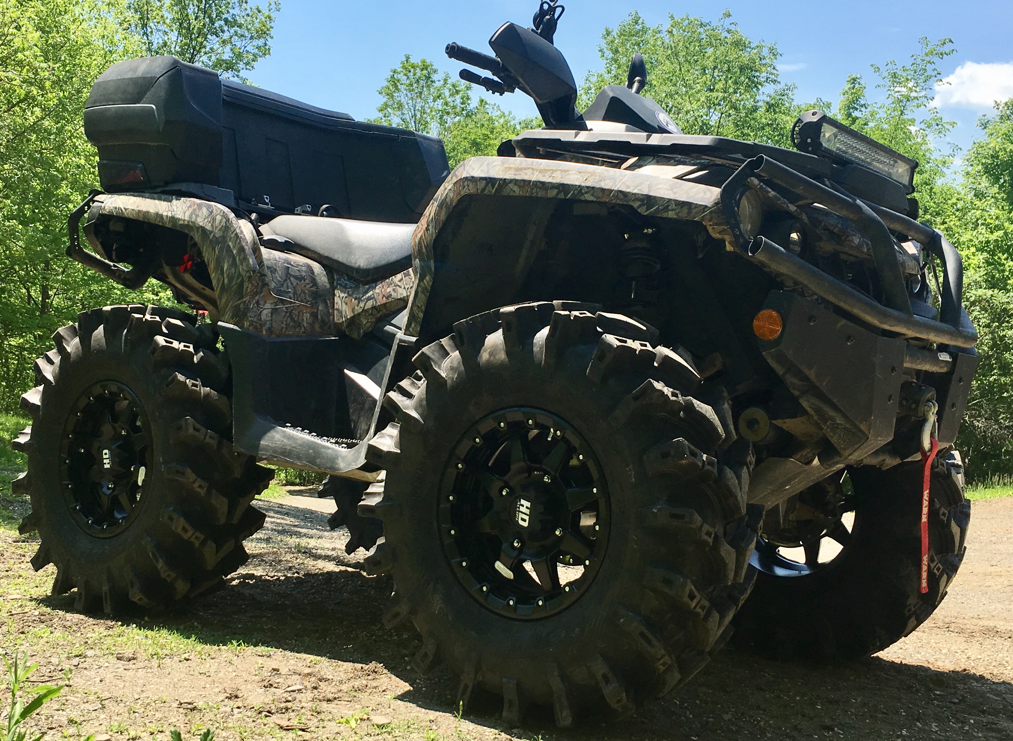 2012 Can AM Outlander XT 800r Lifted