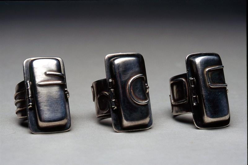stone locket rings
