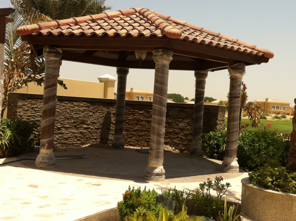 Gazebo With Tile Roof 1