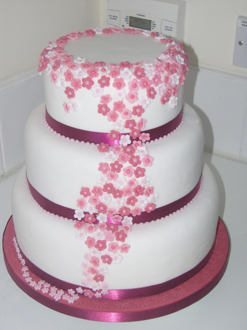 3 Tier Blossom Cake